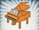Dibujo Un piano de cola abierto pintado por ibiza