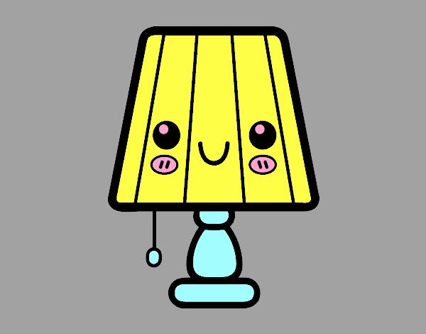 Dibujo Una lámpara de mesa pintado por vale26