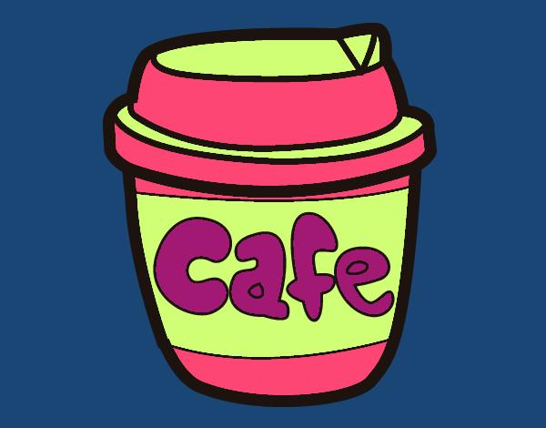 Dibujo Vaso de café pintado por vale26
