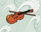 Dibujo Violín Stradivarius pintado por ibiza