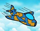 Dibujo Avión de camuflaje pintado por Xiomara21