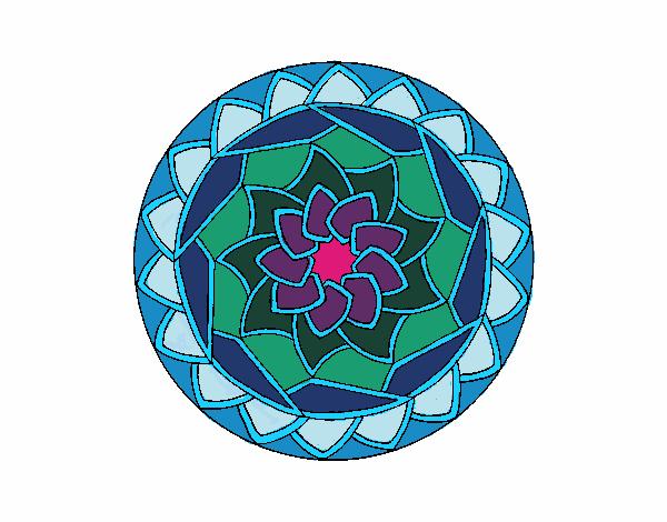 Dibujo Mandala 1 pintado por bonfi