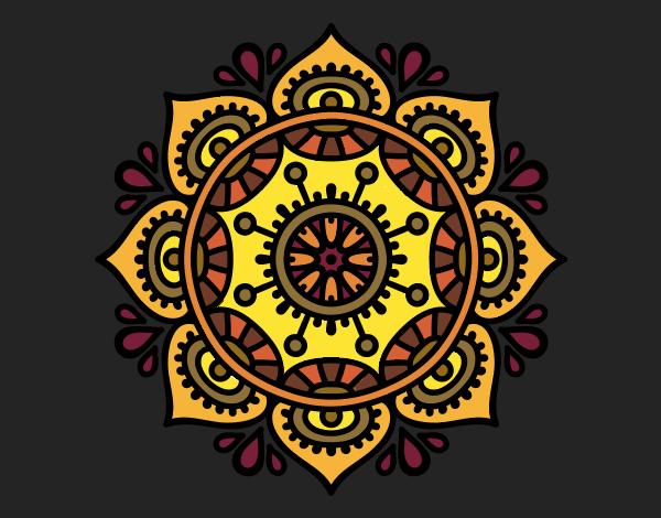 Dibujo Mandala para relajarse pintado por bonfi