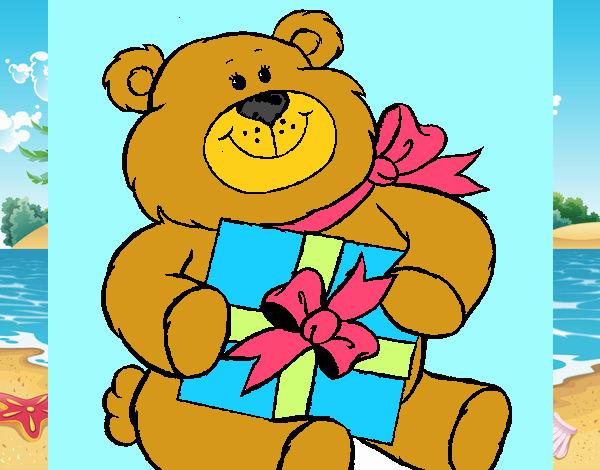 Oso con regalo