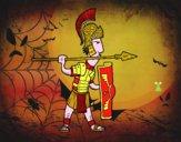 Soldado romano en defensa