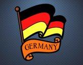 Dibujo Bandera de Alemania pintado por salomerua