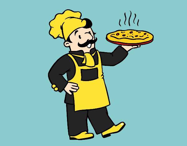 Dibujo Chef italiano pintado por vale26