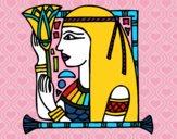 Dibujo Cleopatra pintado por 2017