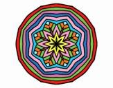 Dibujo Mandala cenital pintado por bandin