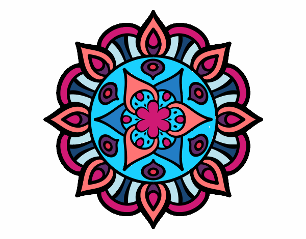 Dibujo Mandala vida vegetal pintado por bonfi