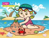 Dibujo Niña playera Color Roll pintado por sheyla13