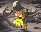 Dibujo Pequeña bruja pintado por salomerua