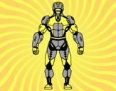 Dibujo Robot luchador de espaldas pintado por salomerua