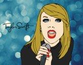 Dibujo Taylor Swift cantando pintado por AmandaP_25