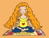 Dibujo Embarazada practicando yoga pintado por Mabel2006