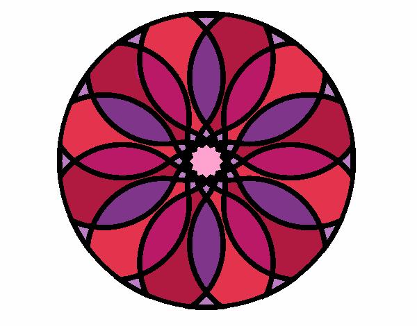 Dibujo Mandala 38 pintado por bonfi