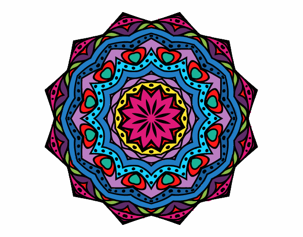 Mandala con estratos