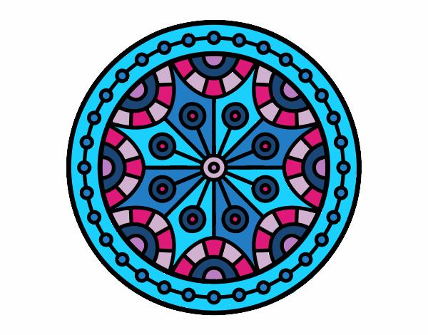 Dibujo Mandala equilibrio mental pintado por bonfi