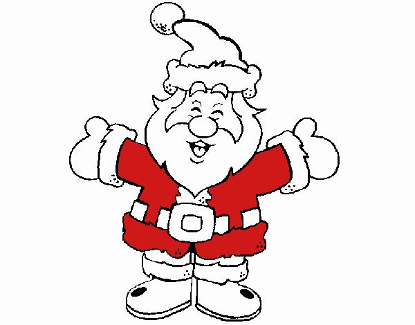 Papa Noel feliz