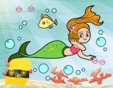 Dibujo Sirena mágica pintado por Mabel2006