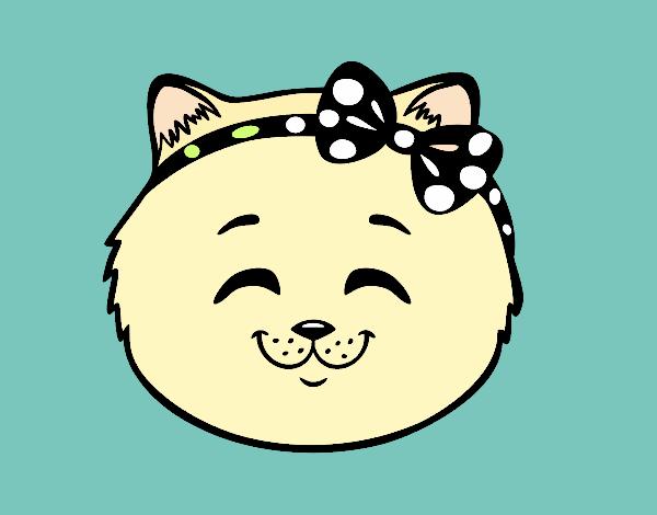 Cara de gatita feliz