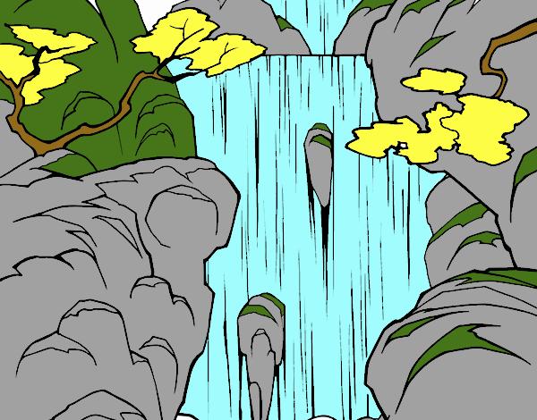 Dibujo Cascada pintado por LISYERLYS