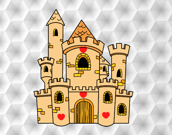Dibujo Castillo de cuento pintado por Sosa2005