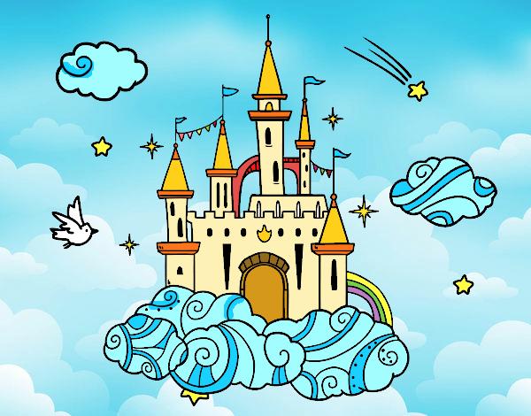 Dibujo Castillo en las nubes pintado por Sosa2005