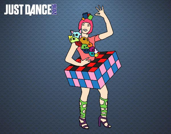 Dibujo Chica Just Dance pintado por Sosa2005