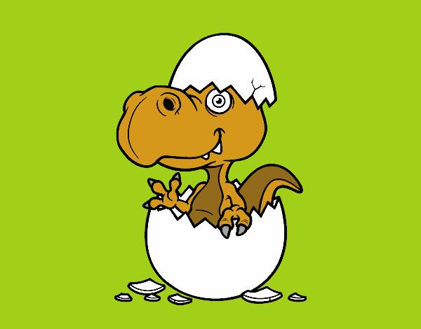 Dino saliendo del huevo