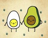 Dibujo Huevo y aguacate pintado por Luis03031