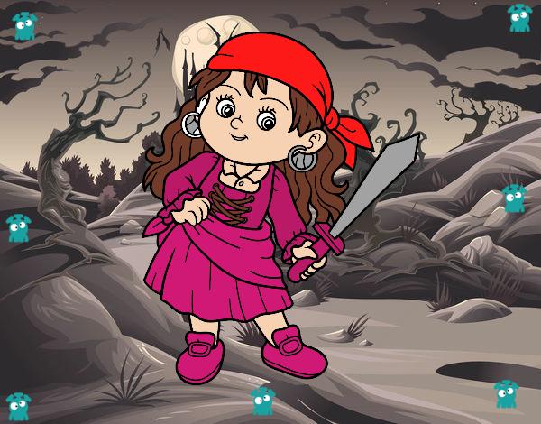 Dibujo La chica pirata pintado por Sosa2005