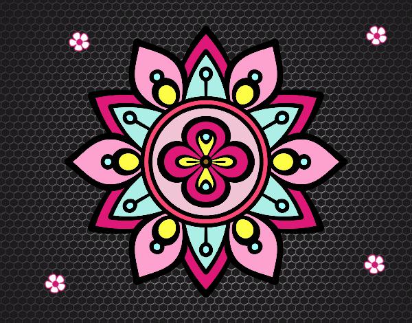Dibujo Mandala flor de loto pintado por carolina28