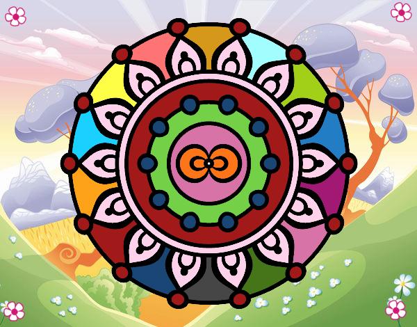 Dibujo Mandala meditación pintado por Sosa2005