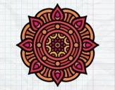 Dibujo Mandala puntos de fuego pintado por Joddy