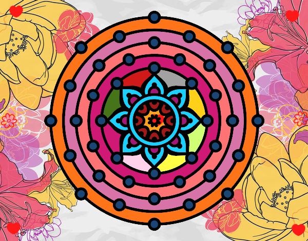 Dibujo Mandala sistema solar pintado por Sosa2005