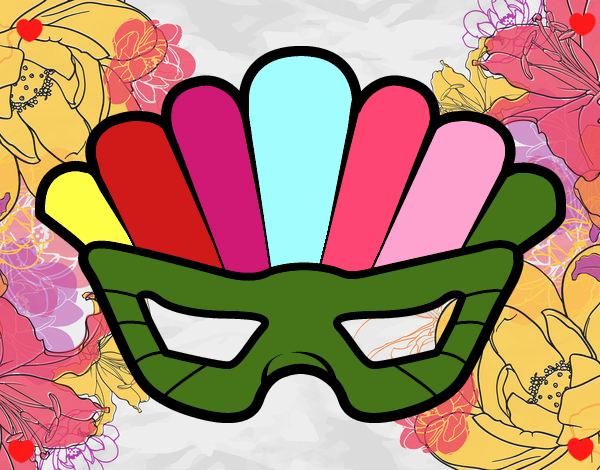 Dibujo Máscara con plumas pintado por Sosa2005
