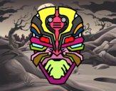 Máscara de robot alien