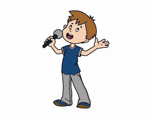 Niño cantando