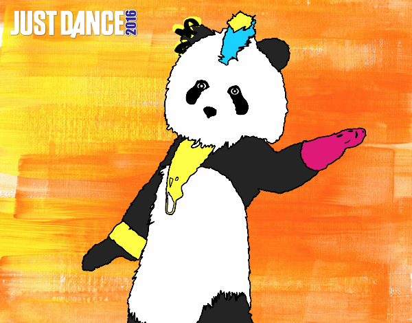 Dibujo Oso Panda Just Dance pintado por Sosa2005