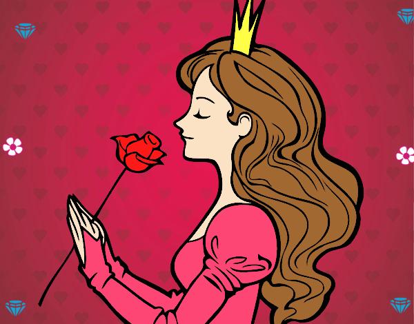 Dibujo Princesa y rosa pintado por Sosa2005