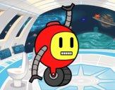 Robot con rueda