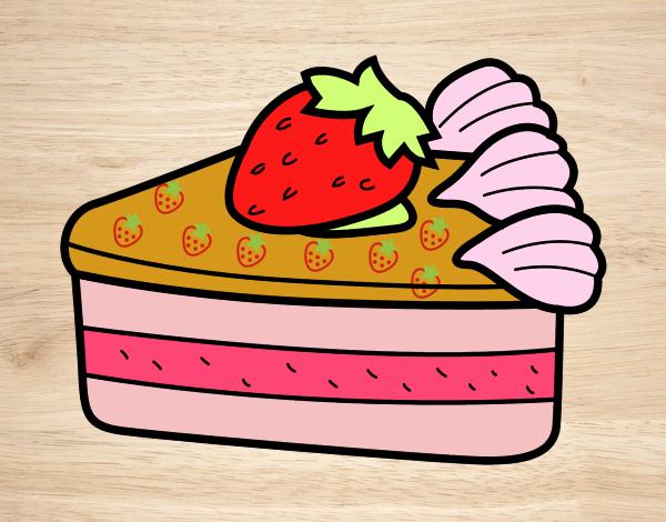 Dibujo Tarta de fresas pintado por Sosa2005