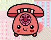 Dibujo Teléfono retro pintado por Sosa2005