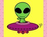Dibujo Alienígena pintado por denisse888