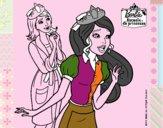 Barbie con una corona de princesa