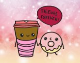 Dibujo Café y donut pintado por yuridia31