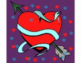 Corazón con flecha