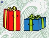 Dibujo Dos regalos pintado por Blackblock