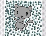 Dibujo Gato garabato pintado por 12santi